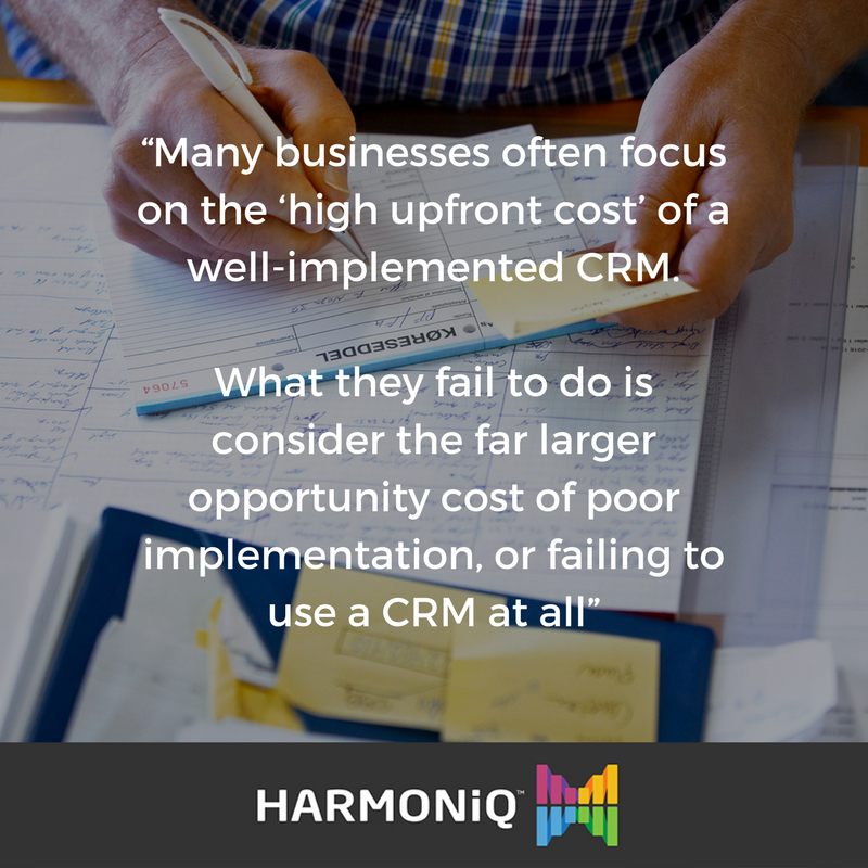 CRM Mistakes #3 Not considering the opportunity cost of not implementing a CRM